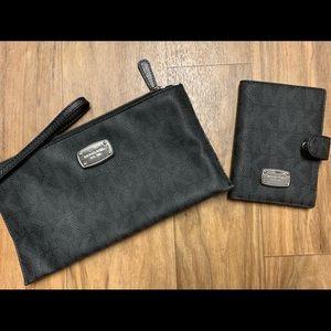 Michael Kors clutch and matching passport holder